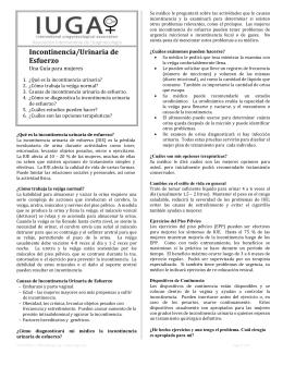 Incontinencia/Urinaria de Esfuerzo