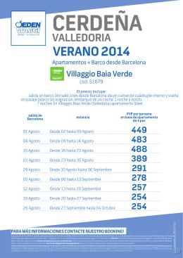 VeraNO 2014 - Bookingfax