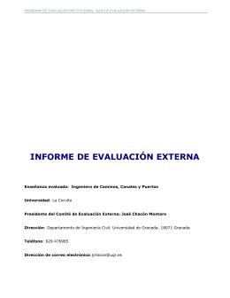 INFORME DE EVALUACIÓN EXTERNA
