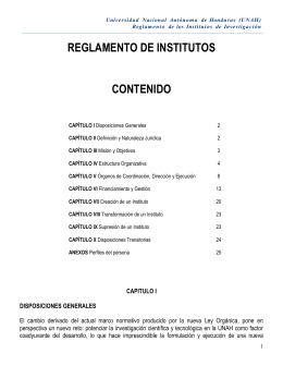 reglamento de los institutos universitarios de investigacion