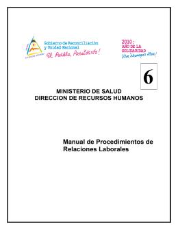 Manual de Procedimientos de Relaciones Laborales