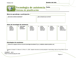 Folleto 5.5: Sistema de planificación de tecnología de asistencia