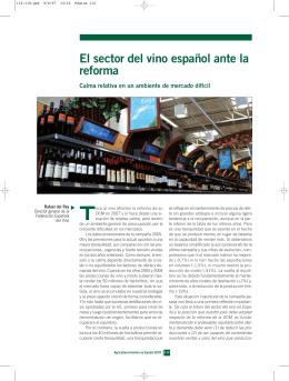El sector del vino español ante la reforma. Calma relativa en