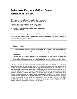 Descargar Política de Responsabilidad Social Empresarial de EPI