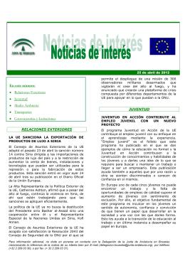 En este número - Junta de Andalucía