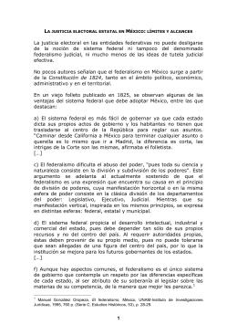 la justicia electoral estatal en méxico: límites y alcances