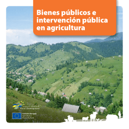 Bienes públicos e intervención pública en agricultura