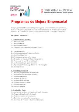 Programas s de Mejora Empresarial Empresarial