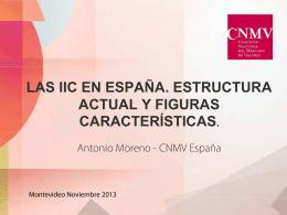 LAS IIC EN ESPAÑA. ESTRUCTURA ACTUAL Y FIGURAS