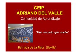 La Comunidad de Aprendizaje del CEIP Adriano del Valle de Sevilla