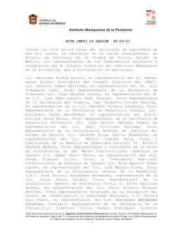 Instituto Mexiquense de la Pirotecnia ACTA IMEPI 24 SESIÓN 28