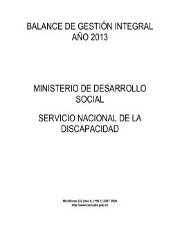 Balance de Gestión Integral Año 2013