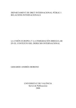 departament de dret internacional públic i relacions