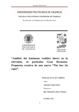 Alejandro Chapí Tolosa - RiuNet - Universidad Politécnica de