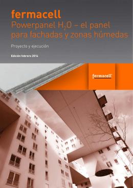 Powerpanel H2O - Panel para fachadas y zonas húmedas
