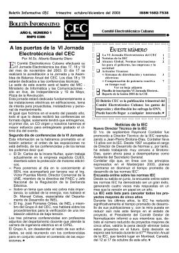 Año 6, Número 1 - comite electrotecnico cubano