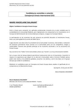 Consejo/a de Emaús Internacional (CEI)