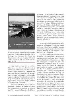 Edición y prólogo de Mariano del Mazo de Unamuno