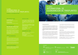 internacional de coordinación de trasplantes