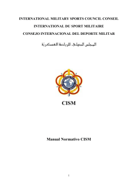 INTERNATIONAL MILITARY SPORTS COUNCIL CONSEIL