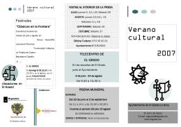 veranocultural - Ayuntamiento de El Grado