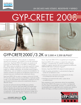 GYP-CRETE 2000® - Maxxon Corporation