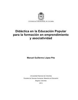 Didáctica en la Educación Popular para la formación en