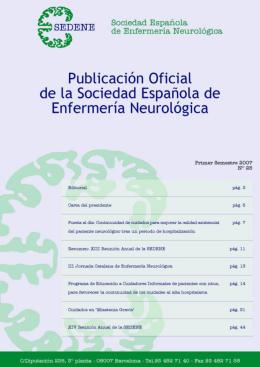 SEDENE Número 25. - Sociedad Española de Enfermería