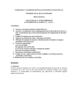 PROYECTO DE COMPACT-PNUD