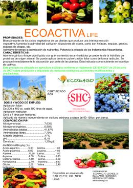 folleto ecoactiva life 2015