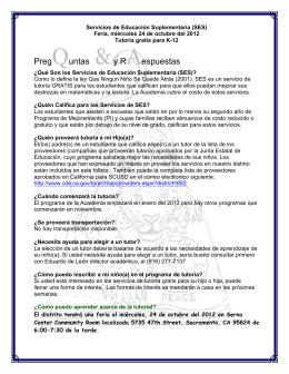 PregQuntas &y RAespuestas - Language Academy of Sacramento