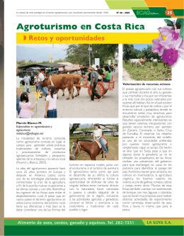 Agroturismo en Costa Rica, retos y