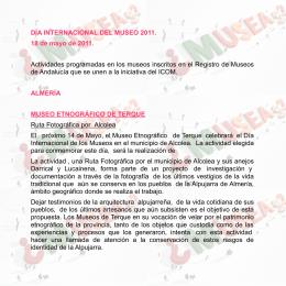 ÿþP rogramaci ó n REGISTRO - Portal de Museos de Andalucía