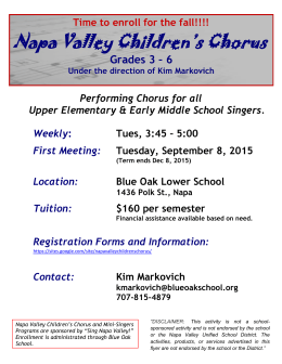Napa Valley Children`s Chorus