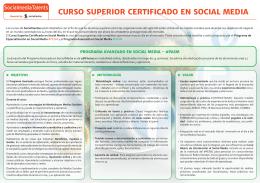 CURSO SUPERIOR CERTIFICADO EN SOCIAL MEDIA