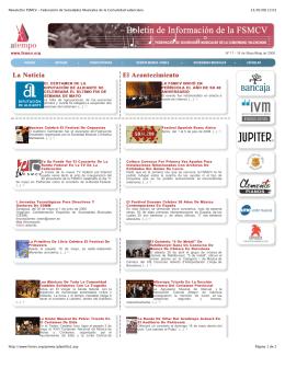 Newsletter FSMCV Nº 11 16 de mayo de 2008