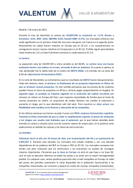 Informe Diciembre 2014