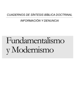 Fundamentalismo - Iglesia Bautista el Faro