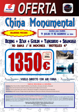 Portada Oferta - China Monumental (09Jul-06Ago - ChinaTravel-CIT