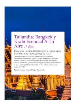 Tailandia: Bangkok y Krabi esencial