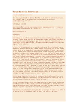 Manual de crianza de caracoles. Girona, España, 24 pp.
