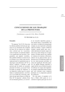 CONCLUSIONES DE LOS TRABAJOS DE LA PREFECTURA