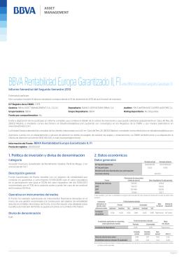 BBVA Rentabilidad Europa Garantizado II, FI(antes BBVA