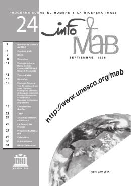 Info MAB: Programa sobre el Hombre y la - unesdoc