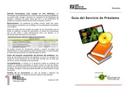 Guía del Servicio de Préstamo