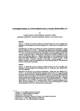 contribuciones al conocimiento de la flora montañesa, iv