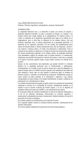Doctrina, legislación y jurisprudencia, nacional e