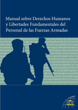 Handbook on Human Rights And Fundamental Freedoms of Armed