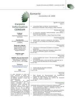noviembre - Ministerio de Agricultura, Alimentación y Medio Ambiente