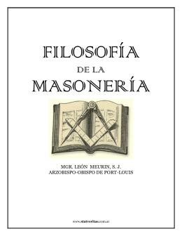 Filosofía de la Masonería.